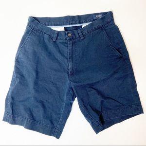 "Polo Ralph Lauren Navy Blue Chino 9"" Shorts"